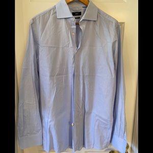 Men's BOSS Hugo Boss dress shirt Blue. Size large